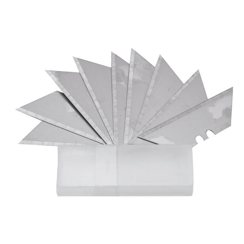 Lâmina de estilete trapezoidal de aço SK5 (contém 10)